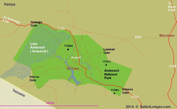 Amboseli National Park Location
