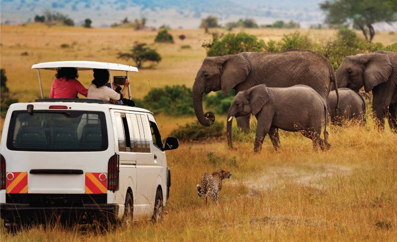 game drive in amboseli