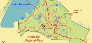 Map of Amboseli National Park